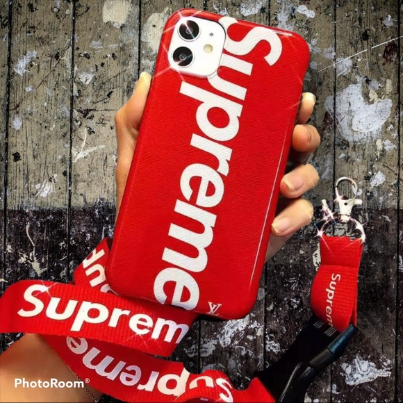 NWB! IPHONE 11(6.1 in) RED SUPREME CASE w/STRAP